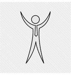 human figure design vector image