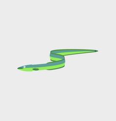 In flat style eel vector