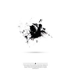 Ink splatter with small drops of black vector image
