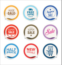 modern stickers and badges vector image vector image