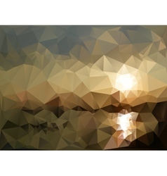 Mountains and sea landscape triangle design vector image
