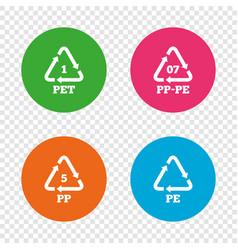 Pet pp-pe and pp polyethylene terephthalate vector