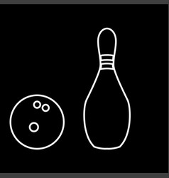 pin and bowling ball it is icon vector image