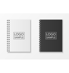 Realistic notebook set vector image vector image