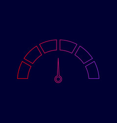 speedometer sign line icon vector image