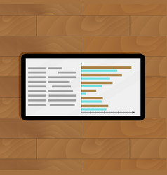 Tablet with page statistics vector