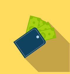 wallet icon in flat style vector image