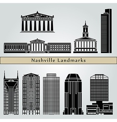 Nashville landmarks and monuments vector