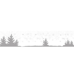 Banner with christmas trees vector