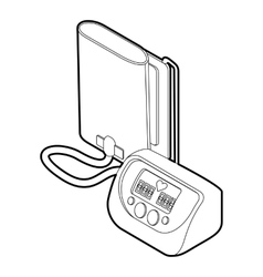 Tonometer icon outline style vector