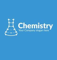 Template logo line silhouette with dots chemical vector