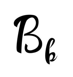 alphabet letter b lettering calligraphy manuscript vector image