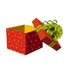 Open gift box vector image