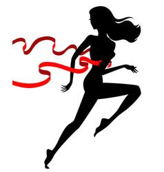 Runner winner female vector
