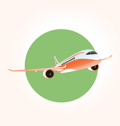 Jet airplane flying in the sky vector