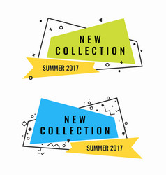 New collection of summer 2017 promotional vector