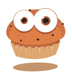Funny muffin vector