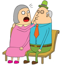 Old couple dating vector