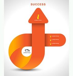 Arrow up to success vector