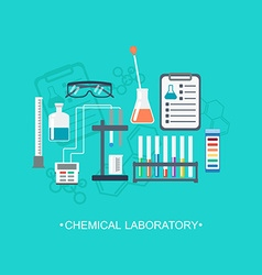 The chemical background banner cover flat design vector