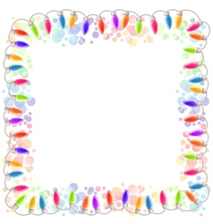 Festive blank frame with garland vector
