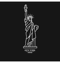 Statue of liberty icon 1 vector