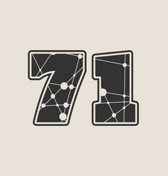 71 number vector image vector image