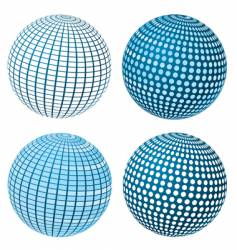 sphere set vector image