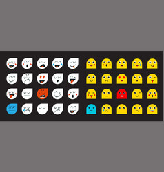 78 smileys vector image
