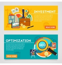 Investment and optimization concept banners vector