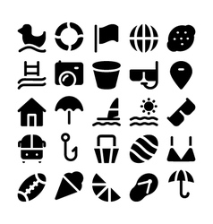 Summer icons 5 vector