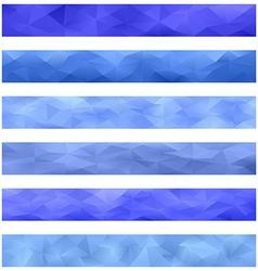 Blue banner background set vector image