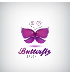 butterfly logo Spa salon icon vector image vector image