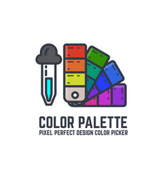 color swatch palette vector image vector image