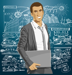 confident vector image vector image