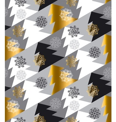Elegant christmas tree seamless geometry pattern vector