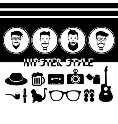 Hipster vintage vector