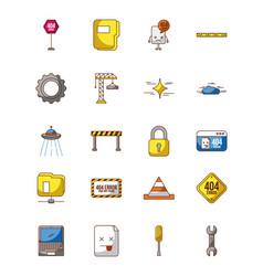 icon set page not found vector image vector image