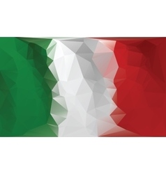 Italian flag Polygonal colorful flag vector image