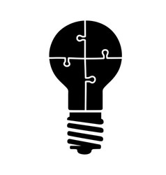 light bulb puzzle vector image