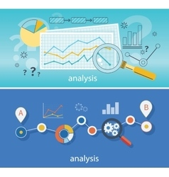 Magnifying Glass Data Analysis vector image vector image