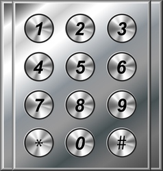 Metal phone keypad vector image