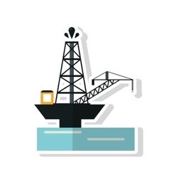 Oil tower of industry and factory concept vector