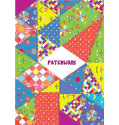Patchwork cover or placard - funny design vector image vector image
