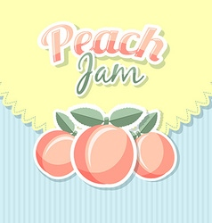 Retro peach jam vector