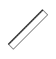 ruler icon tool in black contour vector image