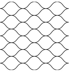 seamless pattern thin wavy lines horizontal mesh vector image
