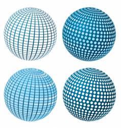 sphere set vector image vector image