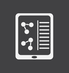 White icon on black background molecules on form vector