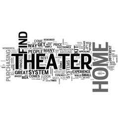 Why buy home theater kits text word cloud concept vector